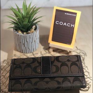 Coach ~ Brown Signature Wallet